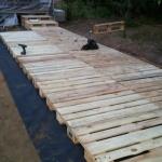 сборка садовой мебели из поддонов